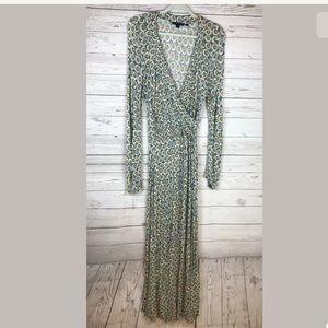 Boden maxi dress faux wrap size 12L tall